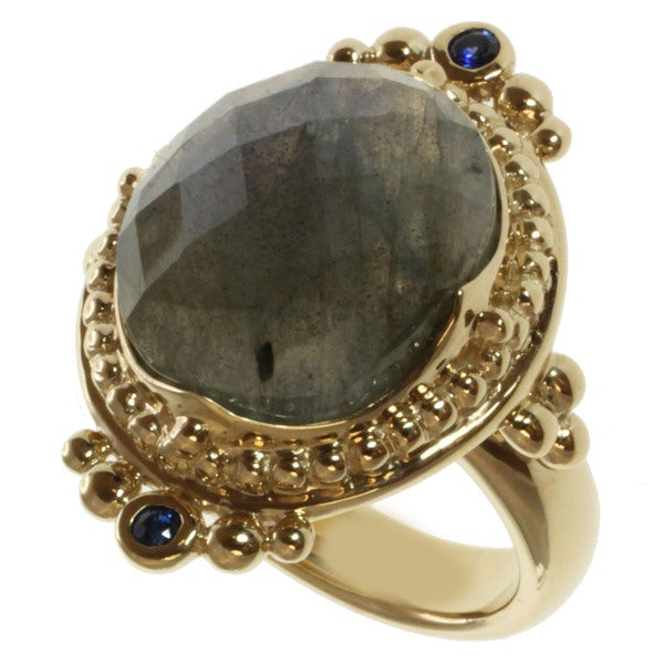 Michael Valitutti/ Zaffiro Labradorite and Blue Sapphire Ring