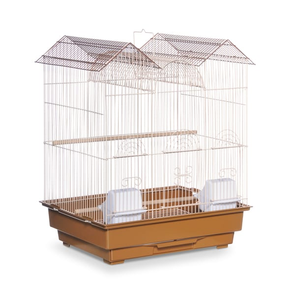 Prevue Pet Products Triple Roof Brown and Cream Bird Cage