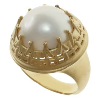 Michael Valitutti White Mabe Pearl Ring (15 mm)