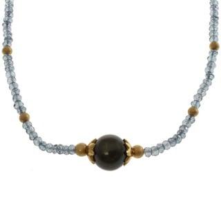 Michael Valitutti South Sea Pearl and Blue Quartz Necklace (12.5-13 mm)