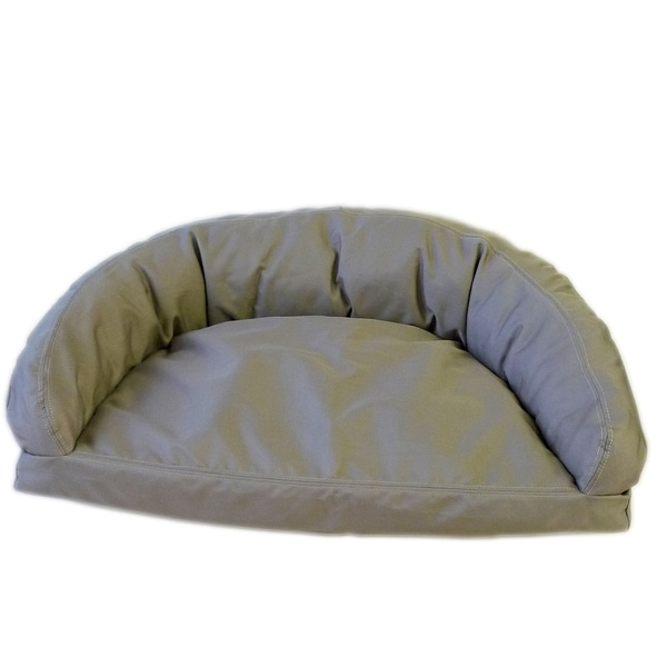 Carolina Pet Brutus Tuff Semi-Circle Khaki Pet Bed Lounger