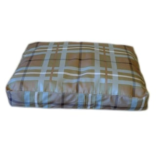 Carolina Pet Brown/ Blue Plaid Tuff Saddle Stitch Petnapper