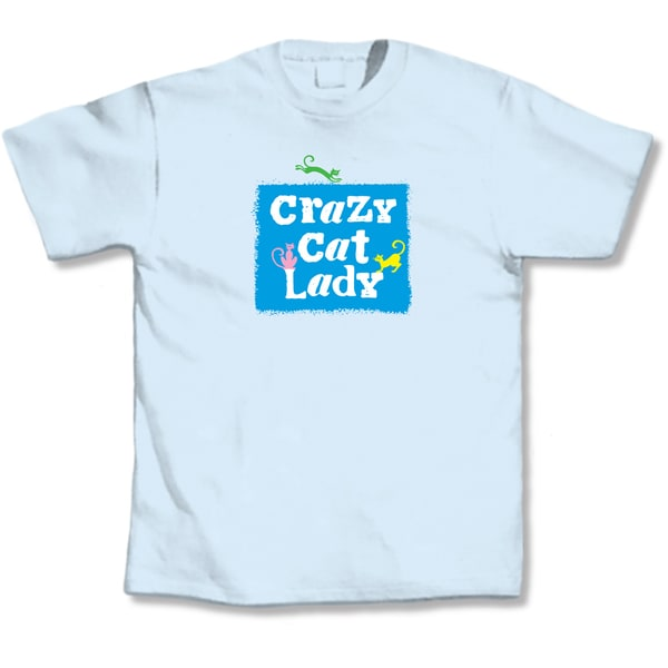 Crazy Cat Lady White T-Shirt