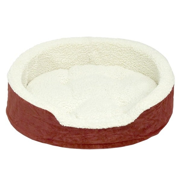 Oliver Foam Red Small Dog Bed (18 x 22.5 inches)