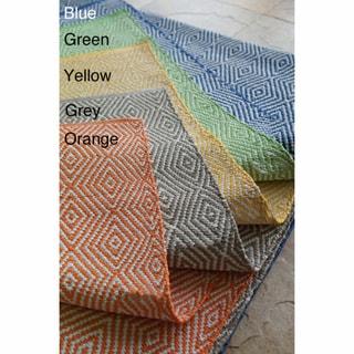 Handmade Alexa Contemporary Outdoor Flat-Weave Rug