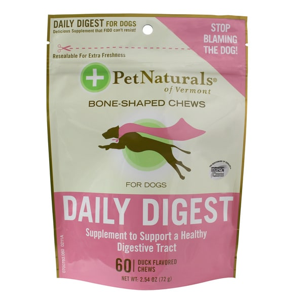 Pet Naturals of Vermont Daily Digestive Supplements for Dogs (60-Count)