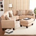 Ascot Mocha 4-peice Sectional Sofa