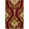 nuLOOM Handmade Royal Damask Red Wool Rug