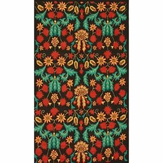 nuLOOM Handmade Floral Multi Rug