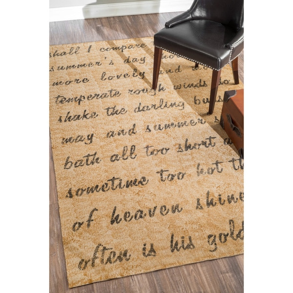 nuLOOM Poem Natural Jute Rug