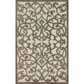 nuLOOM Handmade Fence Natural Faux Silk / Wool Rug