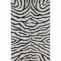 nuLOOM Handmade Zebra Navy Faux Silk / Wool Rug