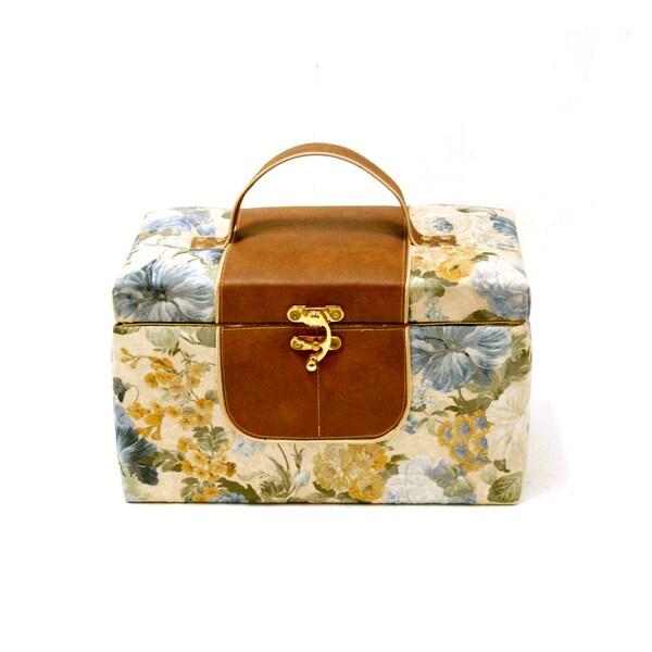 English Cottage Garden Medium Rectangular Sewing / Craft Box