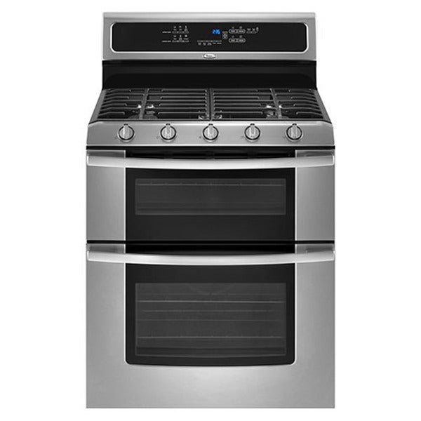 Whirlpool ggg39olxs double oven freestanding gas range 14944092 shopping big - Gas stove double oven reviews ...