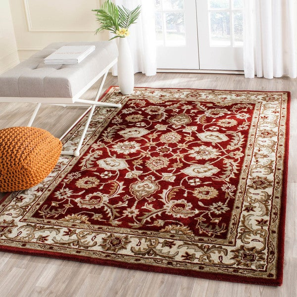 Safavieh Handmade Royalty Red/ Ivory Wool Rug