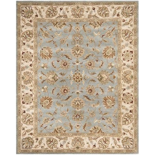 Safavieh Handmade Royalty Grey/ Beige Wool Rug
