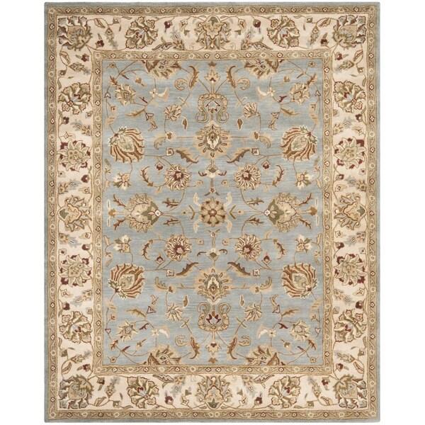 Safavieh Handmade Royalty Grey/ Beige Wool Rug
