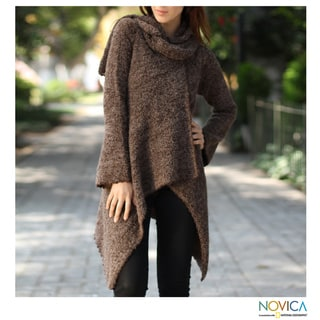 Alpaca 'Andean Style' Hooded Coat (Peru)
