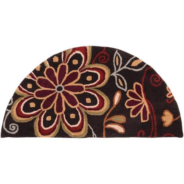 Hand-tufted Urumbilum Chocolate Wool Rug (2' x 4' Hearth)
