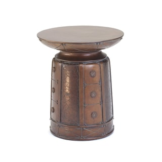 Bronze Finish Resin Round Side Table