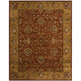 Handmade Heritage Rust/ Beige Wool Rug