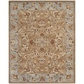 Safavieh Handmade Heritage Brown/ Blue Wool Rug