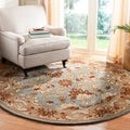 Handmade Heritag Blue/ Brown Wool Rug
