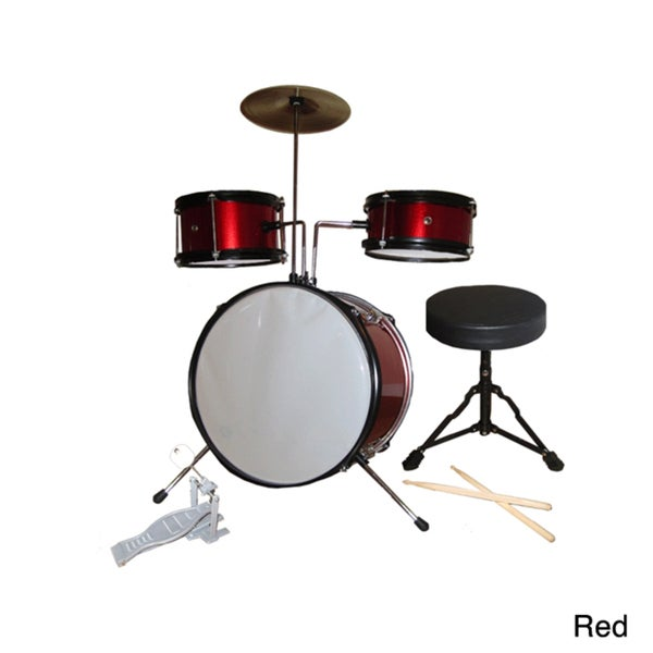 Rock Star 5-piece Kids Red Drum Set
