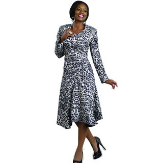 Lisa Rene Novelty Printed Rhinestone Accent Dress