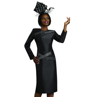 Rhinestone-detailed Contemporary Black Cocktail Dress