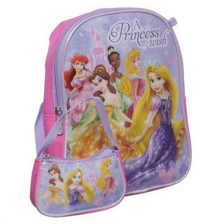Disney PR21728-SC-PK Princess Mini Kid's Backpack with Mini Coin Purse