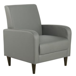 Cool Grey Faux Leather Chair