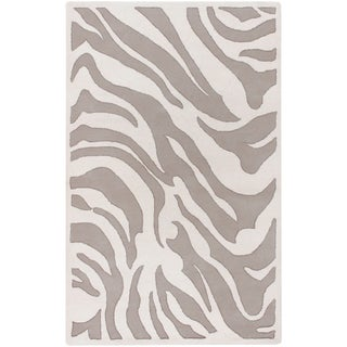 B. Smith Hand-tufted Beige/White Zebra Animal Print Channing Wool Rug (2' x 3')