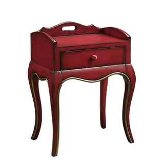Creek Classic Crofton Red One-drawer Accent Table
