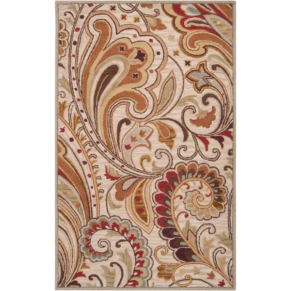 Hand-tufted Pottsboro Clover Wool Rug (8' x 11')