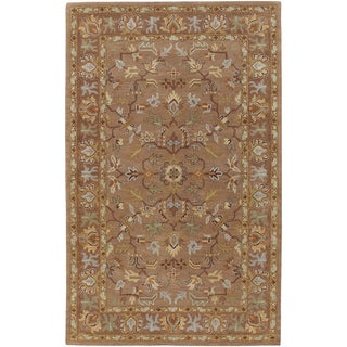 Hand-tufted Redwild Mocha New Zealand Wool Rug (2' x 3')
