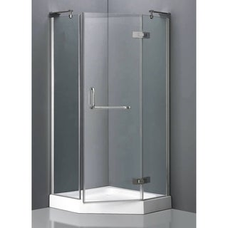 ICA Furniture Acquatech Viviane 36-inch Neo-Angle Shower Enclosure