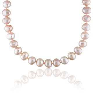 Miadora Pink Cultured Freshwater Pearl Necklace (9-10 mm)