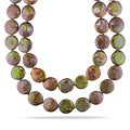 Miadora Freshwater Brown Pearl Endless Necklace (16-17 mm)
