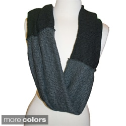Infinity Scarf Color Blocked Sweater Knit