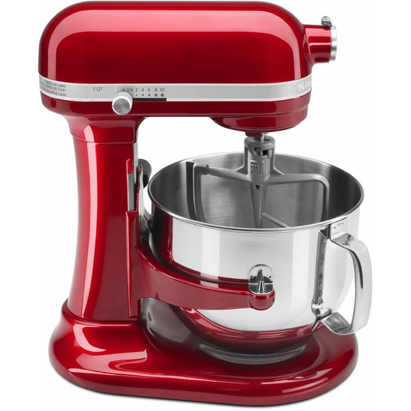 KitchenAid KSM7581CA Candy Apple Red 7-quart Bowl-Lift Stand Mixer