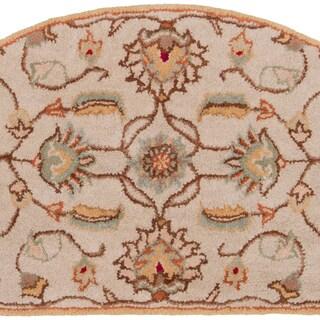 Hand-tufted Sara Gold Wool Rug (2' x 4' Hearth)