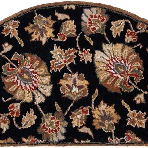 Hand-tufted Savannah Black Wool Rug (2' x 4' Hearth)