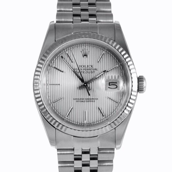 Pre-Owned Rolex Men's Stainless-Steel Jubilee Bracelet Datejust Watch