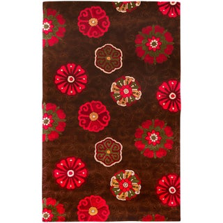Smithsonian Hand-tufted Braunfels Floral Medallion Wool Rug (2' x 3')