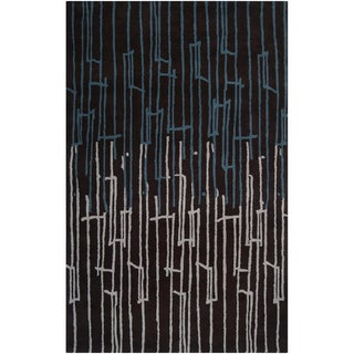 Noah Packard Desing Hand-tufted Brazoria Abstract Plush Wool Rug (2' x 3')