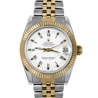 Pre-owned Rolex Midsize Women's Two-tone Datejust Watch