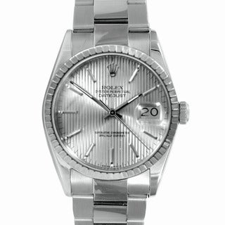 Pre-Owned Rolex Men's High-Grade Stainless-Steel Datejust Watch