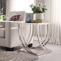 Anson Steel Brushed Arch Curved Sculptural Modern End Table