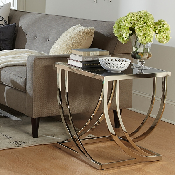 1tier glass top modern style living room side accent end table ebay